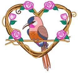 Love Bird embroidery design