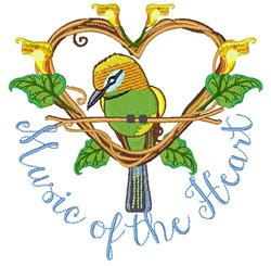 Music Of Heart embroidery design
