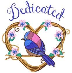 Dedicated Bird embroidery design