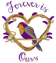 Forever Is Ours embroidery design