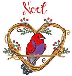 Noel Bird embroidery design