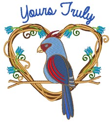 Yours Truly embroidery design