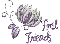 First Friends embroidery design
