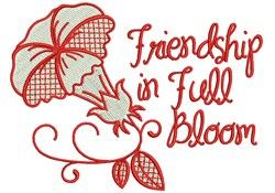Friends In Full bloom embroidery design