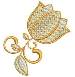 Elegant Flower embroidery design