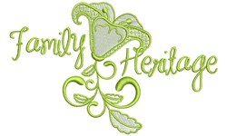 Family Heritage embroidery design