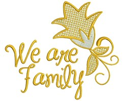 We Are Family embroidery design