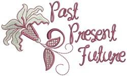 Past Present Future embroidery design