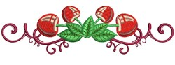 Border Cherries embroidery design