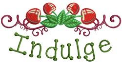 Indulge embroidery design