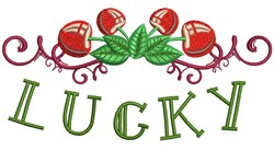 Lucky embroidery design