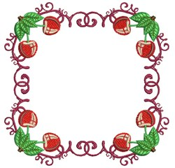Cherries Block embroidery design