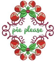 Pie Please embroidery design