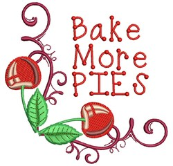 Bake More Pies embroidery design