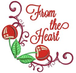 From The Heart embroidery design