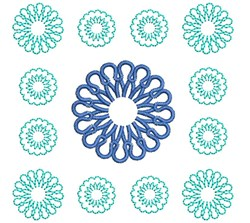 Quilt Flowers embroidery design