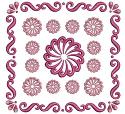 Swirl Quilt Block embroidery design
