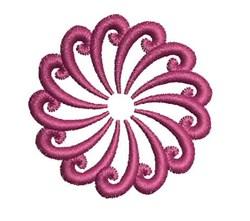 Swirl Mandala embroidery design