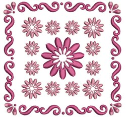 Daisy Quilt embroidery design