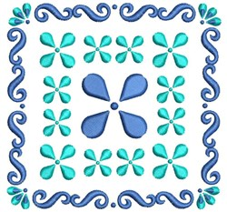 Quilt Square Swirl embroidery design