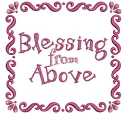 Blessing From Above embroidery design