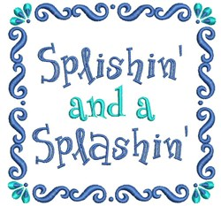 Splishin And A Splashin embroidery design