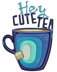 Hey Cute Tea embroidery design