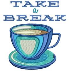 Take A Break embroidery design