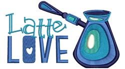 Latte Love embroidery design