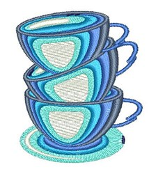 Teacups embroidery design