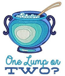 One Lump Or Two? embroidery design