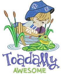 Toadally Awesome embroidery design