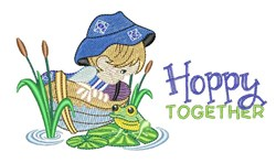 Hoppy Together embroidery design