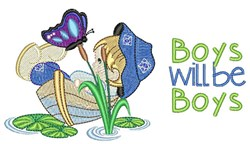 Boy Will Be Boys embroidery design