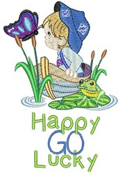 Happy Go Lucky embroidery design