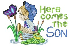 Here Comes The Son embroidery design