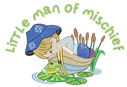 Little Man Of Mischief embroidery design