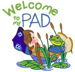 Welcome To Pad embroidery design