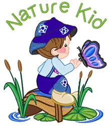Nature Kid embroidery design