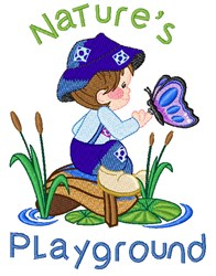 Natures Playground embroidery design