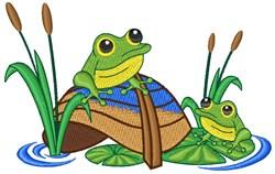 Frog Pond embroidery design