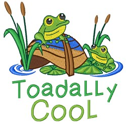 Toadally Cool embroidery design