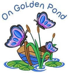 Golden Pond embroidery design