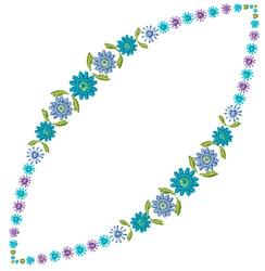 Blue Garland embroidery design