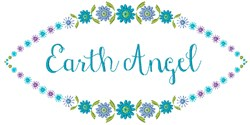 Earth Angel embroidery design