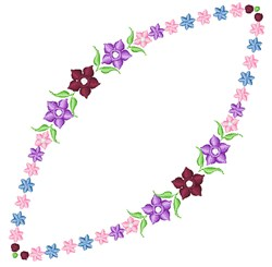 Purple Garland embroidery design