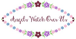 Angels Watch embroidery design