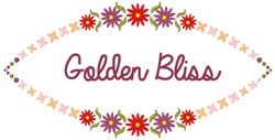 Golden Bliss embroidery design