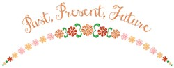 Past Present Future embroidery design