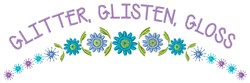 Glitter Glisten embroidery design